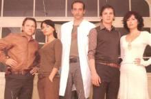 Die Schauspieler Richy Müller, Miranda Leonhardt, Jürgen Hartmann, Felix Klare und Carolina Vera (v.l.n.r.)