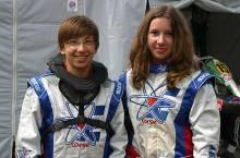 Christopher und Anna-Lisa Dreyspring sorgten bei den Rotax Junioren für Aufsehen