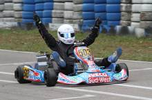 Noah Brandt sicherte sich den Doppelsieg und auch den Titel in der Klasse der Rotax Junioren