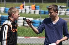 Interview vor dem Start - Foto: Weichert